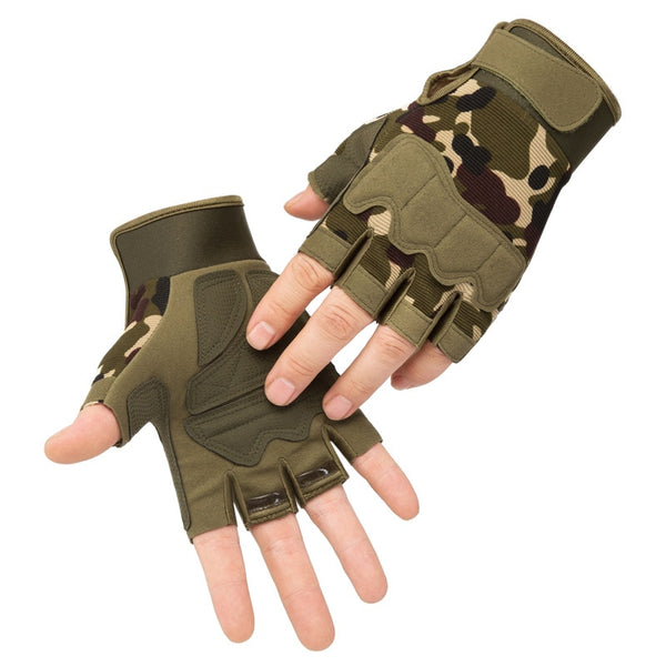 Fingerless Tactical Outdoor Anti-Slip Utility Gloves