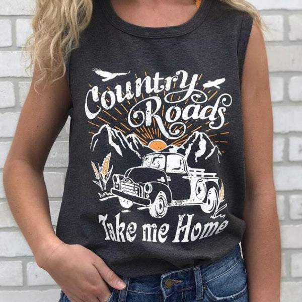 Women's Country Roads Scoop Neck Tank Top