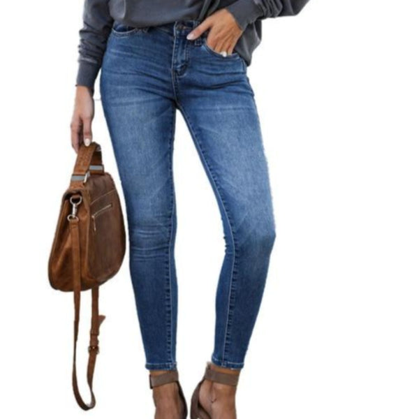 Women's Skinny Stretch Mid Waist Jeans