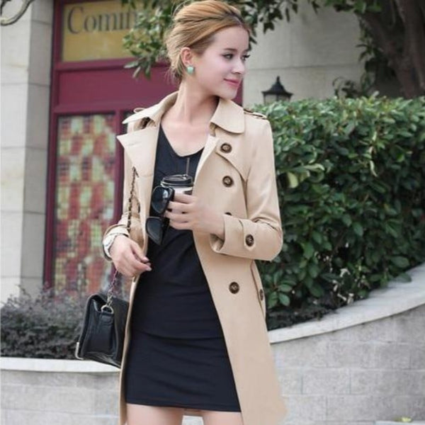 Women's Slim-Fit Trench Coat