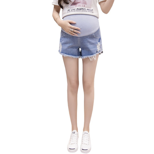 Women's Denim Cotton Maternity Shorts