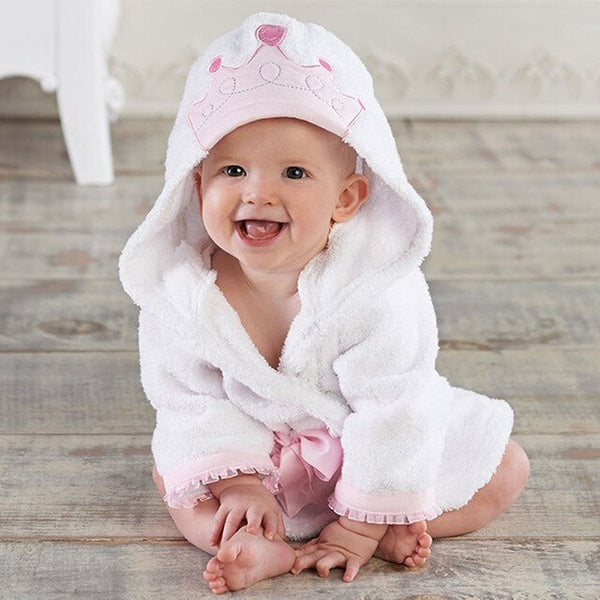 Toddler Cute Animal Bathrobe with Hood and Sleeves