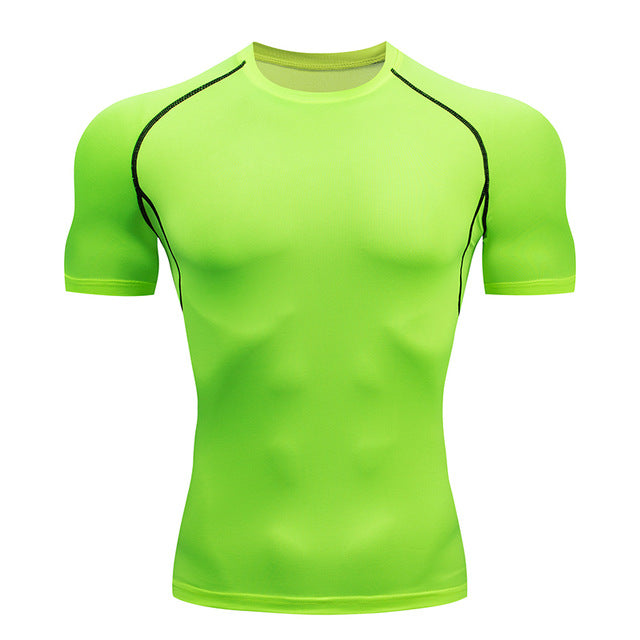 Men's Quick Dry Compression Fitness Running T-Shirts