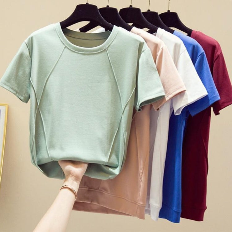 Women's Soft Cotton Casual Short Sleeve Top