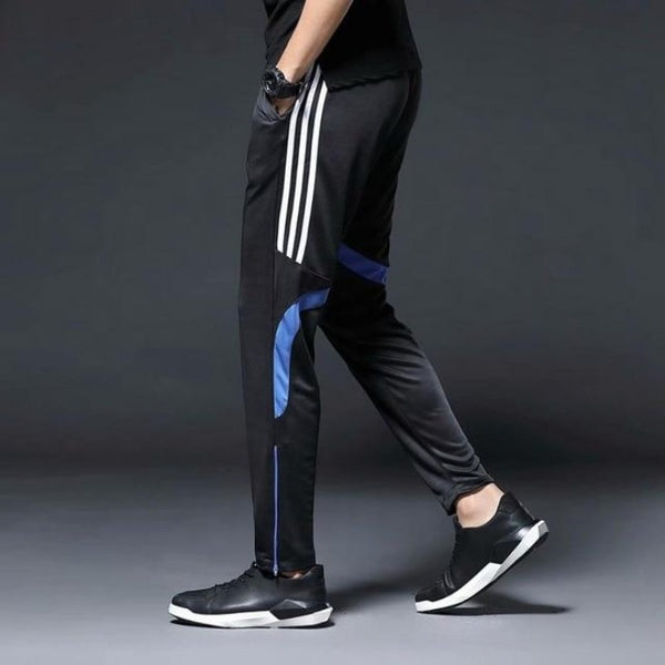 Men's Athletic Running Pants with Zippers