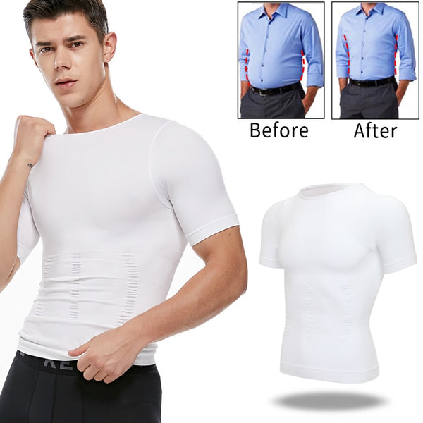 Men's Slimming Body Shaper Belly Control Shirt