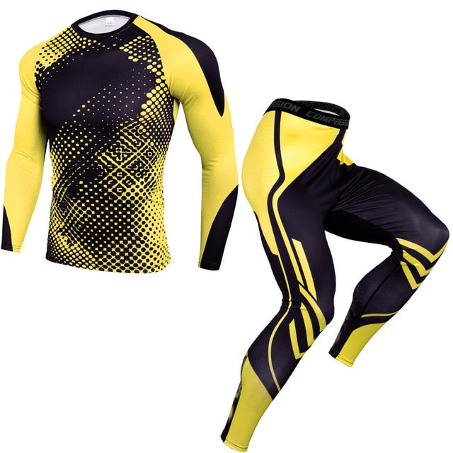 Men's Sport Compression Workout 2pc Set