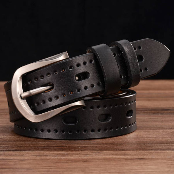 Women's Leather Hollow Out Belt