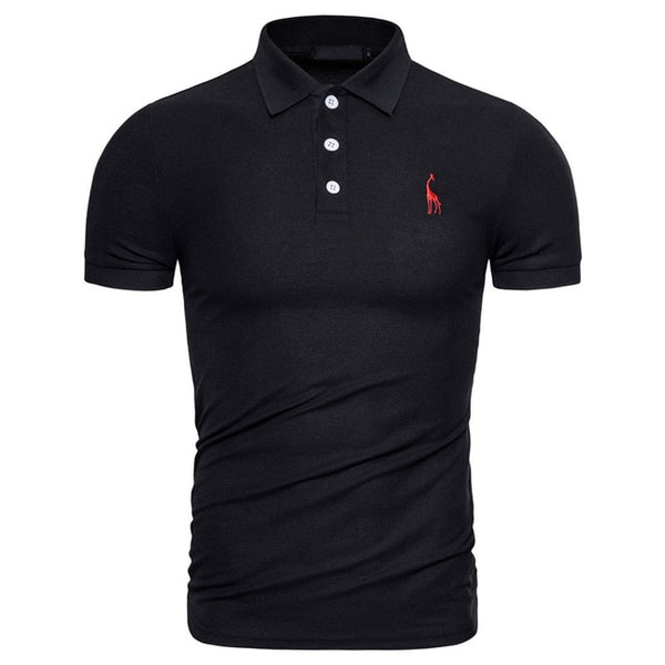Men's Solid Color Polo Dress Shirt