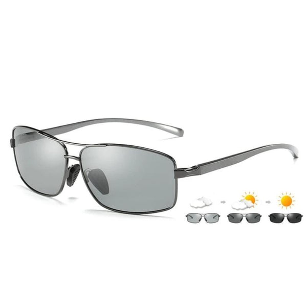 Men's Polarized Anti-Glare Photochromic Sunglasses