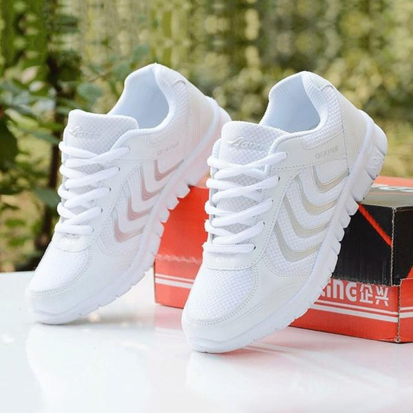 Women's Breathable Chevron Pattern Running Shoes