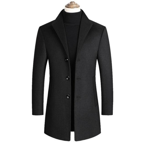 Men's Wool Blend Autumn Jacket
