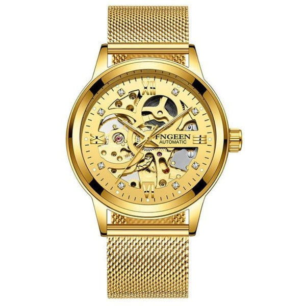 Men's Skeleton Mechanical Luxury Watch