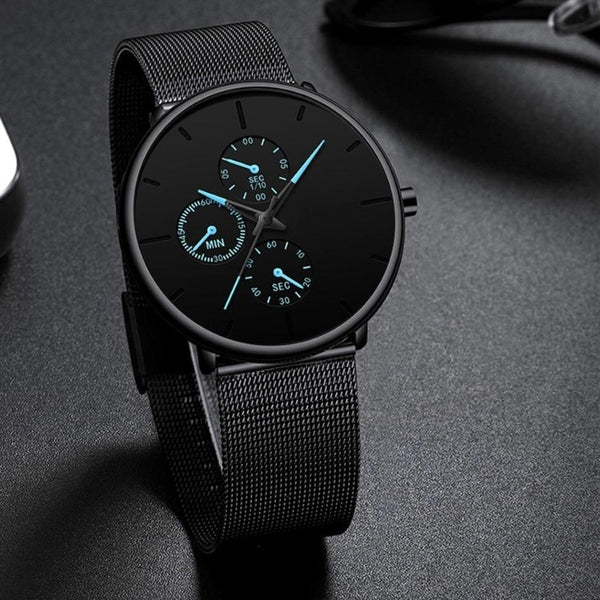 Men's Steel Mesh Classic Quartz Watch