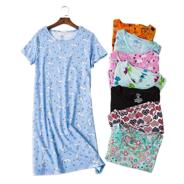 Women's Long T-Shirt Loose Fit Sleepwear Pajamas