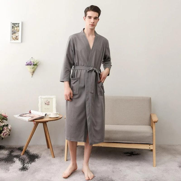 Men's Waffle Hotel Spa Bathrobe