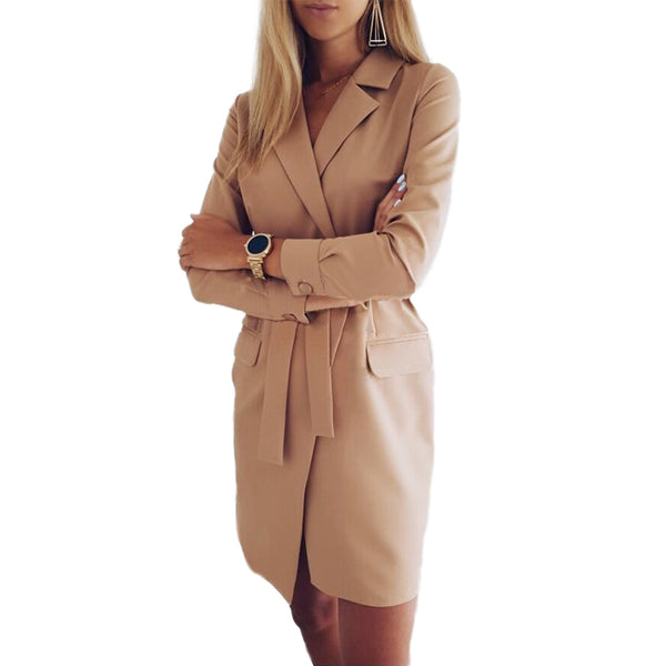 Women's Elegant Belted Jacket