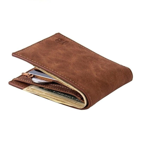 Men's Leather Wallet With Coin Bag