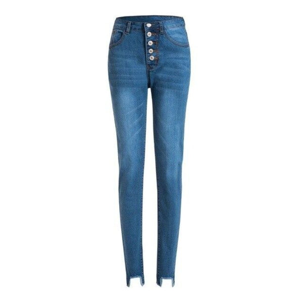 Women's High Waisted 5 Button Skinny Jeans