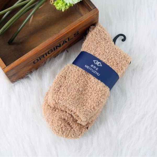 Women's Soft Terry Towel Fuzzy Socks