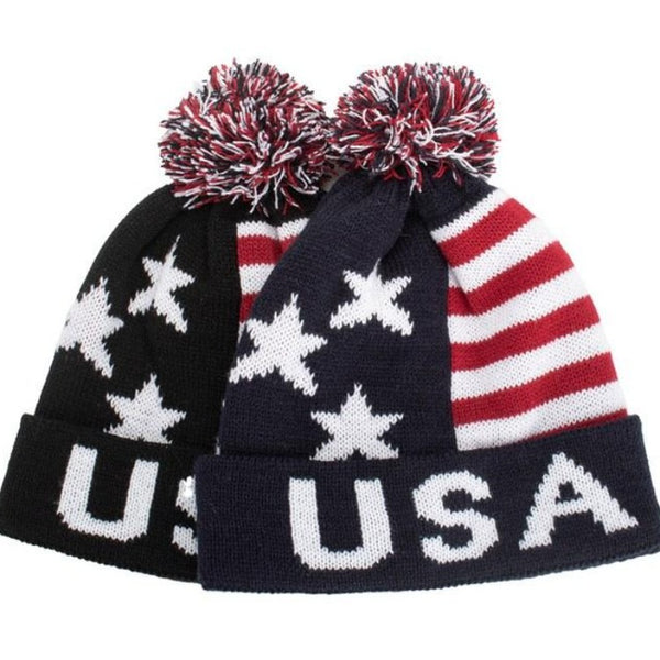 Men's USA Knitted Beanie Hat