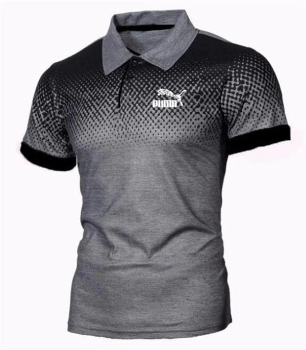 Men's Breathable Short Sleeve Polo Shirt