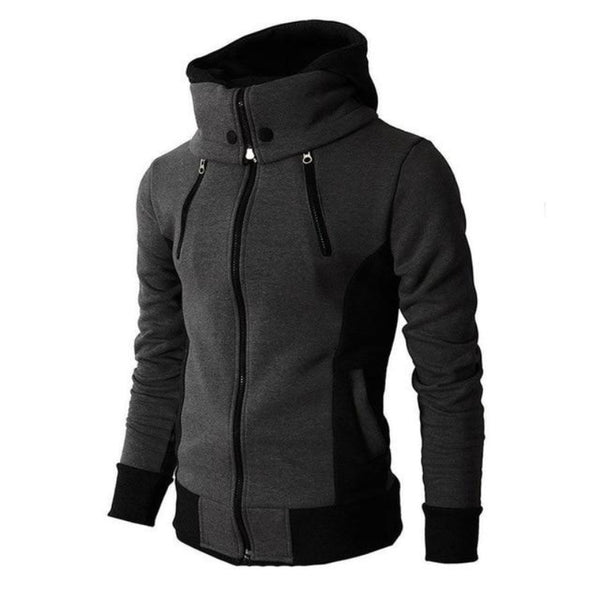 Men's Fleece Zip-Up Hooded Jacket