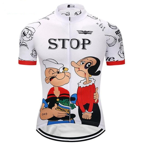 Men's Funny Quick-Dry Cartoon Cycling Jersey