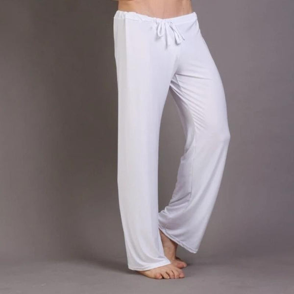 Men's Casual Loose-Fit Polyester Pajama Bottoms