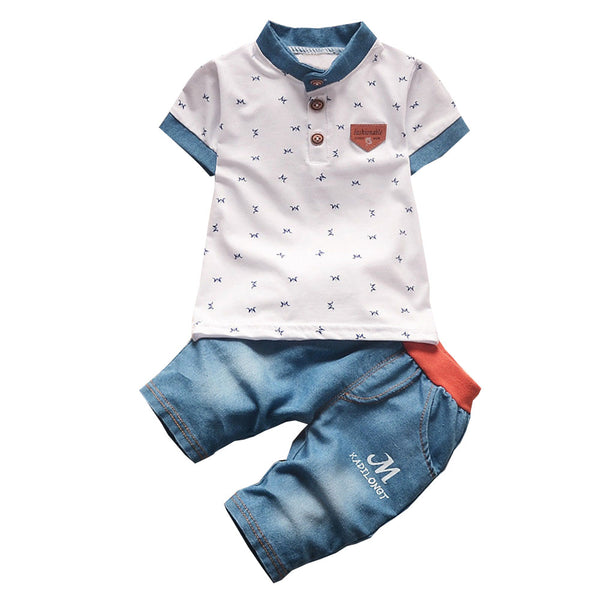 Kid's Baby Boys Shirt and Jeans 2Pc Set