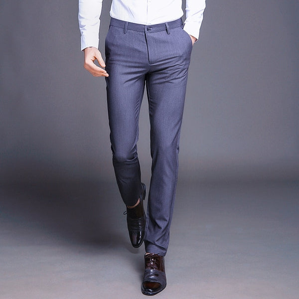 Men's High Fashion Straight Full Business Pants