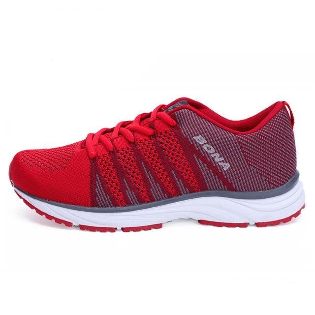 Women's Lace Up Running Mesh Shoes