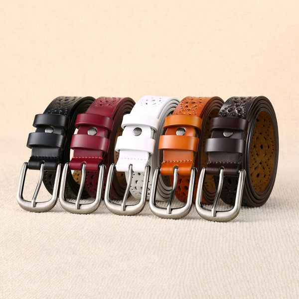Women's Skinny Elastic Soft Leather Belt