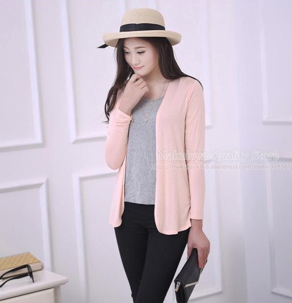 Women's Sweet Solid Color Short Sweater Cardigan