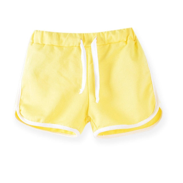 Kid's Girls Simple Active Shorts