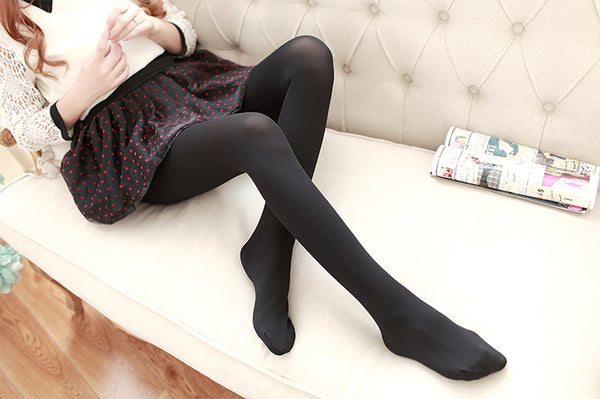 Women's Ribbed Solid Color Tights