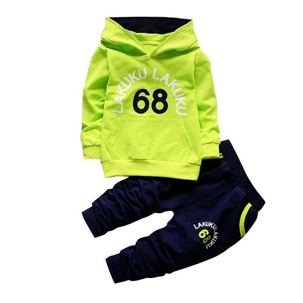 Kid's Boys 2pc Tracksuit Hooded T-shirt And Pants