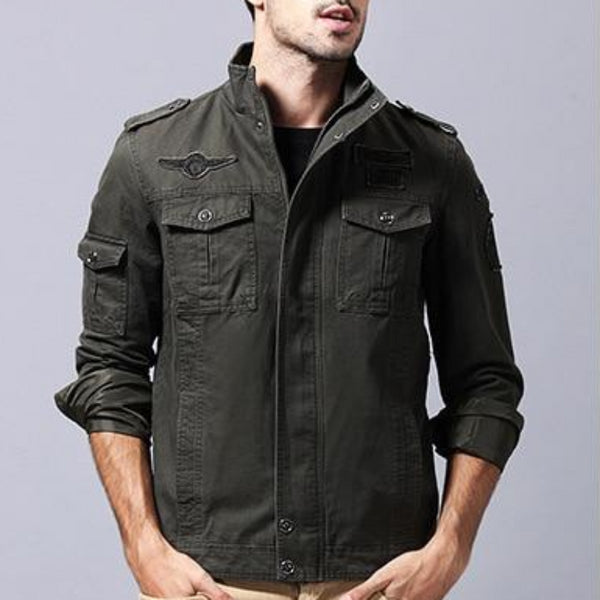 Men's Cotton Military Style Jacket