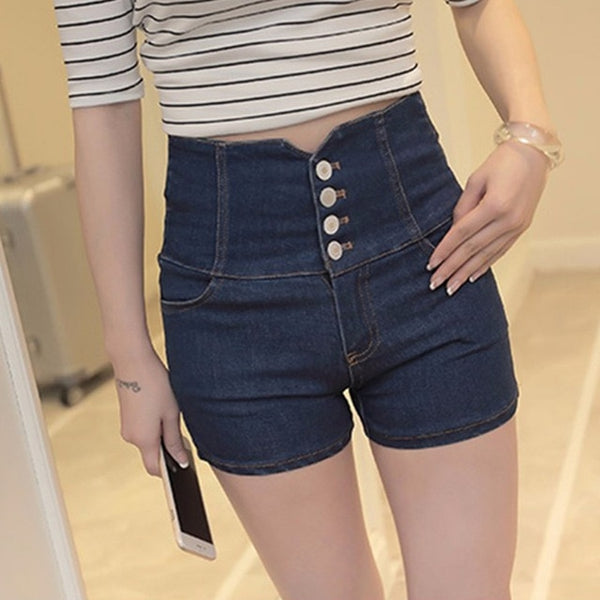 Women's Hollow Out Skinny High Waist Shorts