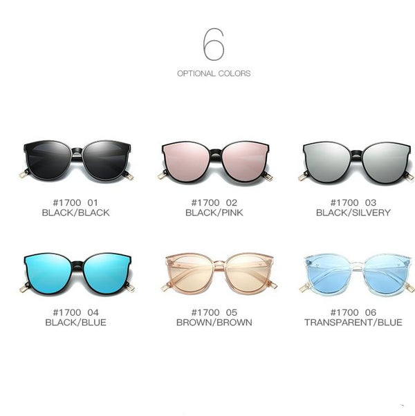 Women's Luxury Flat Top Cats Eye Sunglasses