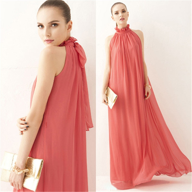 Women's Maternity Chiffon Bohemian Dress