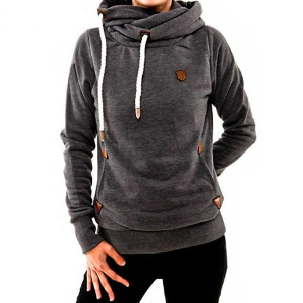 Women's Cotton Long Sleeve Pocket Hoodie