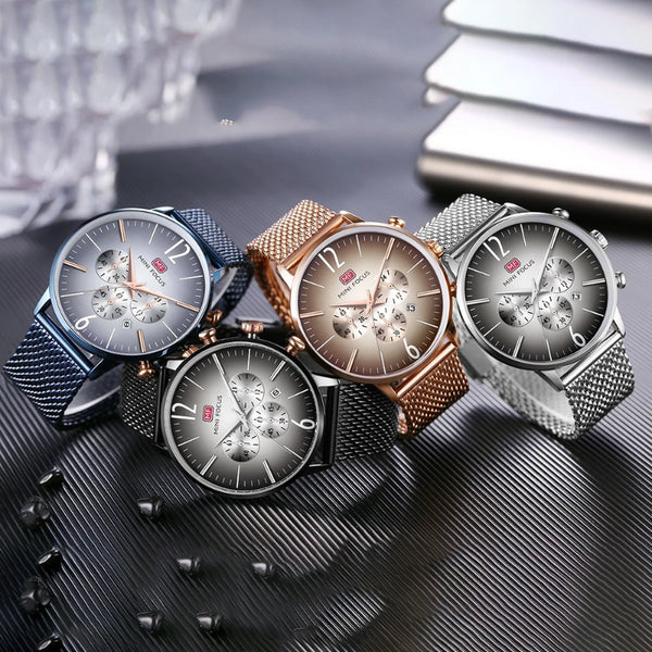 Men's Stainless Steel  Luxury Ultra Thin Dress Watch