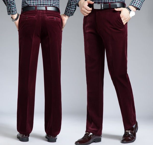 Men's Casual Corduroy Loose Fit Pants