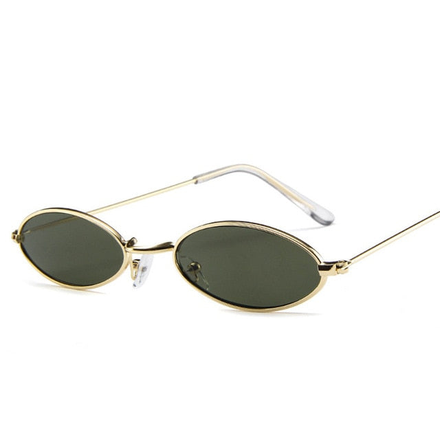 Women's Small Oval Vintage Sunglasses