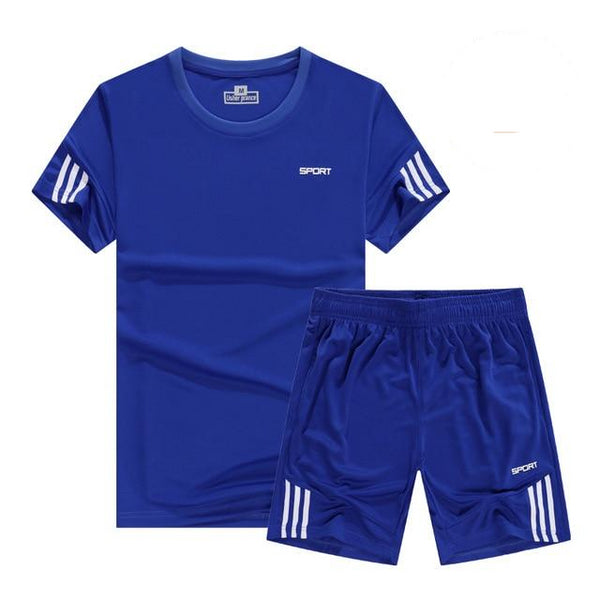 Men's Quick Dry Sport Running Shirt and Shorts