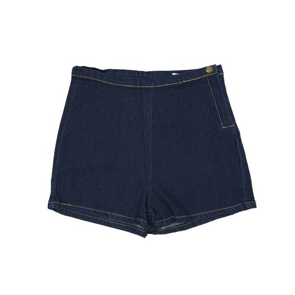 Women's Slim High Waist Denim Jean Shorts