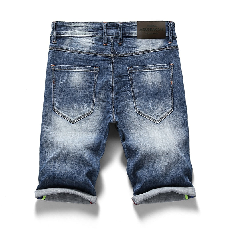 Men's Jean Denim Bermuda Shorts