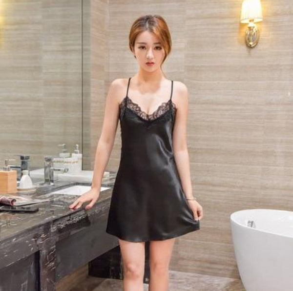 Women's Sexy Lace Satin Backless Teddie