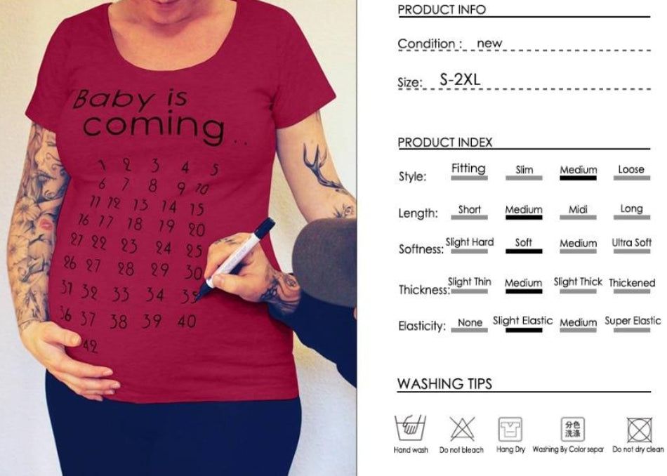 Women's Baby Is Coming Maternity T-shirt